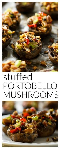 Bite-sized mushrooms with simple ingredients and BIG flavor! Great for you, and SO GOOD! #vegan #vegetarian #meatless #dairy #gluten #free #paleo #low #carb #calorie #diet #clean #whole #natural #mushroom #stuffed #appetizer #party #starter