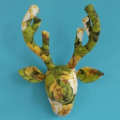 Upcycle old cushions or curtains to make Stan the Stag with this easy to follow pdf pattern.