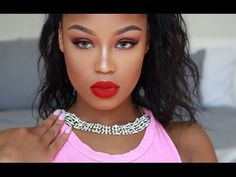 RIHANNA 2016 VMA MAKEUP TUTORIAL - YouTube