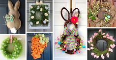Whether you want something fun and bright or a more elegant decoration, this list of simple Easter wreath ideas and designs has you covered.