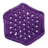 Ravelry: Granny Stitch Hexagon Crochet Motif II pattern by Lion Brand Yarn