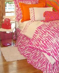 Hot Pink Zebra Bedding for Girls and Teens