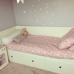 Little girl's take on ikea hemnes daybed