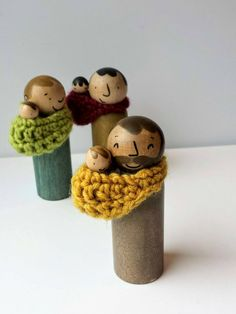 Baby wearing dads for encouraging nurturing play for boys. New Grandparent Gifts, Daddy Gifts, Fathers Day Gifts, Modern Kids Decor, Expecting Mom Gifts, Green Toys, Dollhouse Toys, Baby Sling, Crochet Wool