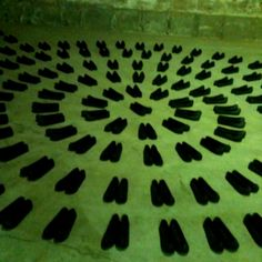 Rubber shoes radiation
