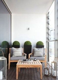 50 ideas on how to design the small 50 Ideen, wie man die kleine Terrasse gestalten kann terrace furniture terrace decorate small terrace design - Small Balcony Design, Small Balcony Decor, Small Terrace, Terrace Design, Small Balconies, Condo Balcony, Apartment Balcony Decorating, Apartment Balconies, Cool Apartments