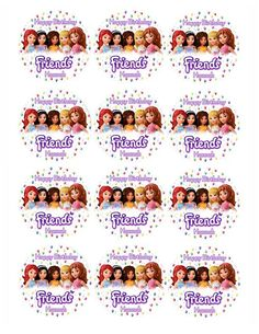 LEGO FRIENDS 1 Edible image cake topper 1/4 sheet by Galimeli