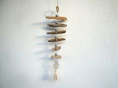 Driftwood mobile with hamsa hand by on Etsy, Handmade Windchimes, Driftwood Mobile, Hanging Mobile, Hamsa Hand, Bird Houses, Silver Color, Wall Art Decor, Mobiles, Etsy