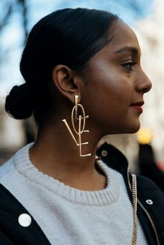 The Best Street Style Looks From London Fashion Week The Best Street Style At London Fashion Week Best Street Style At London Fashion Week Day 8 The Best Heart Earrings Have Arrived for Party Season Heart Jewelry, Statement Jewelry, Body Jewelry, Silver Jewelry, Enamel Jewelry, Silver Earrings, Big Earrings, Heart Earrings, Hoop Earrings