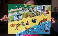 Scène de vie La plage | Jouonsensemble.fr