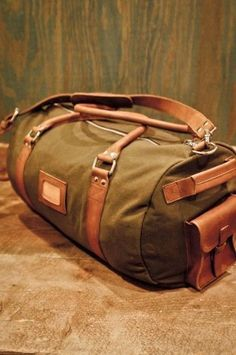 Canvas Duffle Bag for Men, Rugged, Leather Trim, Waxed Canvas by Buffalo Jackson Trading Co