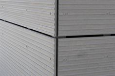 Alternatives To Drywall, Fiber Cement Siding, Architectural Materials, Exterior Cladding, House Siding, Construction, Architecture Details, Prefab Homes, House Design