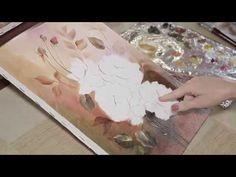 """Como pintar rosas em óleo sobre tela""""técnicas"""" com Ediana Brollezzi - YouTube"""