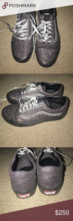 Opening Ceremony Vans Glitter Collaboration gray Black glitter opening  ceremony x vans limited edition collaboration. Never worn afeec8c7e