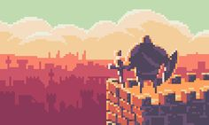 Pixel Art Background, Pixel Art Games, Castle In The Sky, Wallpaper For Your Phone, Video Game Art, Art World, Game Design, Animation, Game Ui