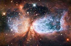 Hubble view of star-forming region Sharpless 2-106 (© NASA, ESA and the Hubble Heritage Team/STScI/AURA  Our own sun was being born in an image not unlike this around 4.5 billion years ago.
