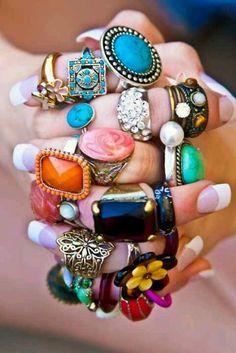 I love big jewelry