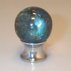MYTERRA C30.LABR Labradorite Gemstone Cabinet Knob Satin Nickel $18 PICK UP OR SHIPS FREE(Compare elsewhere at $33) agnellinos.com