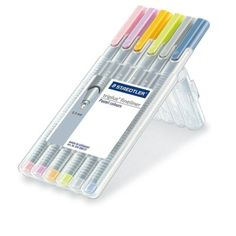 Staedler-Triplus-High-Quality-Fineliner-0-3mm-x-6-Pastel-Colours-for-Spirogra