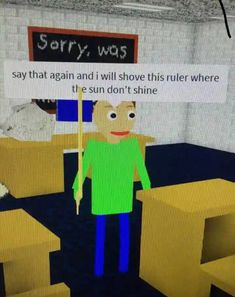 don't mess with baldi CREDIT - - - - memes funny weird shrekisloveshrekislife memey christianmemes funnymemes mrkrabbs dontjudgeme lol lmao Really Funny Memes, Stupid Funny Memes, Funny Relatable Memes, Haha Funny, Memes Roblox, Roblox Funny, Memes Humor, Reaction Pictures, Funny Pictures