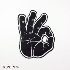 Punk Patch OK fingers patches embroidered patch iron on patch sew on patch (A78) black iron on patches OK finger patch embroidered patch the patch embroidery punk patch sew on patch iron on patch patches 1.90 USD #goriani