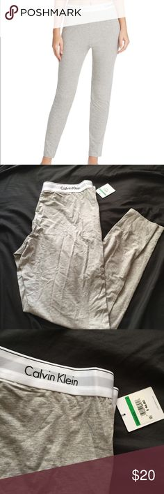Calvin Klein logo legging !! 🌫🌫🌫 Super soft fabric !! CK logo brand in the classic heather grey color!! New with tags!! Calvin Klein Pants Leggings