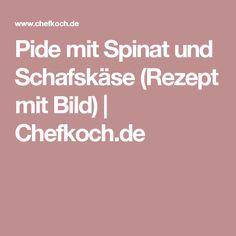 Pide mit Spinat und Schafskäse (Rezept mit Bild) | Chefkoch.de Eat Smart, Healthy Life, Clean Eating, Food And Drink, Low Carb, Lunch, Snacks, Baking, Dinner