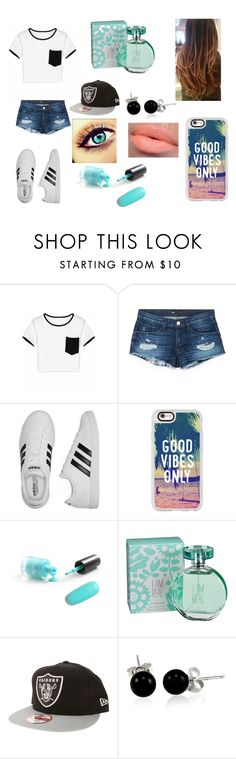 """""""Good Vibes"""" by simpsons-4-ever ❤ liked on Polyvore featuring 3x1, adidas, Casetify, maurices, New Era and Bling Jewelry"""