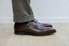 Chaussures Double boucle Lowndes de chez Crockett   Jones Chaussures Hommes,  Derbies, Mode Homme 5dfee8ff77d