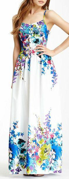 Floral Maxi Dress ♡