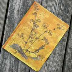 """""""Galium and Artemisia"""" ~ A Mixed Media Nature Inspired Writing Journal, made with LoVe."""