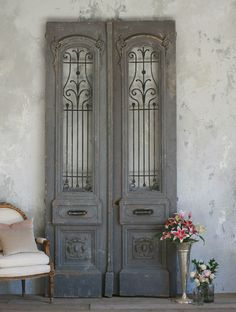 Love these old french doors!