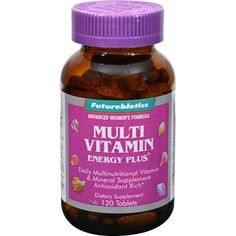 FutureBiotics Multi Vitamin Energy Plus For Women - 120 Tablets - Futurebiotics Multi Vitamin Energy Plus For Women Description: Advanced Womens FormulaComprehensive Formula for Womens Complete Nutrition Daily-multi-nutritional supplement; antioxidant rich Energy Plus blend supports an active lifestyle without stimulants Stress support with a full complement of B vitamins If the multivitamin you take every morning doesnt enhance the way you feel, you might not be taking the right…