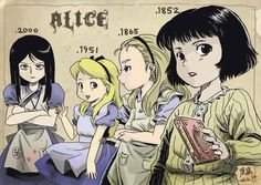 Alice through the years