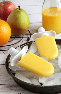 Our favorite juices now in Quick Pop form: Apple, Pear and Orange Quick Pops.