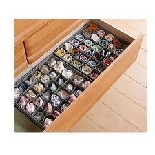 30 Slots Storage Box Wardrobe Organiser Drawer Socks Ties Hankie Underware NEW