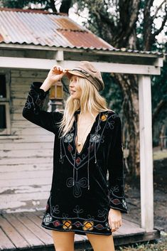 All Along The Watchtower Velvet Tunic Rock And Roll Dresses, Cool Outfits, Bohemian, Tunic, Velvet, Pullover, Silk, Cotton, Clothes