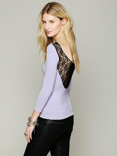 Free People Solid Lace Back Cami, 58.00