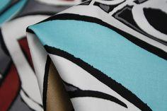 Cherry Leaf Island - Stretch Cotton - Tessuti Fabrics - Online Fabric Store - Cotton, Linen, Silk, Bridal & more