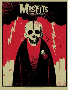 Misfits gig poster by Lil Tuffy http://jungleindierock.tumblr.com/post/73494080128/misfits-gig-poster
