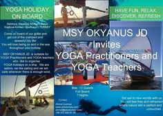 MSY OKYANUS JD Yoga Holidays, City Life, Getting Out, Underwater, Have Fun, Stress, Relax, Invitations, Under The Water
