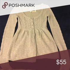 Anthropologie Sweater Great condition, fits small. Just dry cleaned Anthropologie Sweaters