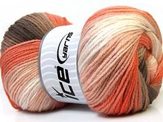 Lot of 4 x 100gr Skeins ICE YARNS Magic Light White Orange Camel -- You can get more details by clicking on the image. (This is an affiliate link and I receive a commission for the sales)