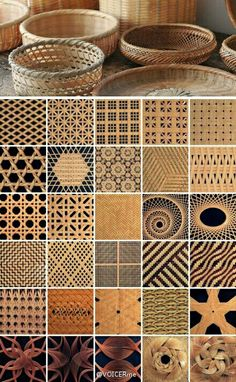 "Schusswarnung: ""Korbflechtmuster"" - Basket and Crate Arts And Crafts, Paper Crafts, Diy Crafts, Diy Paper, Basket Weaving Patterns, Bamboo Weaving, Willow Weaving, Bamboo Crafts, Paper Weaving"