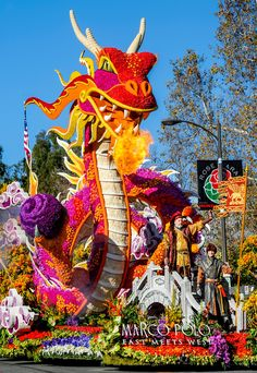 . Sweepstakes winner, Singpoli Group�s Marco Polo East Meets West during the 2016 Rose Parade in Pasadena, California on January 1, 2016.(Photo by Walt Mancini/Pasadena Star-News). Paradiso Floats