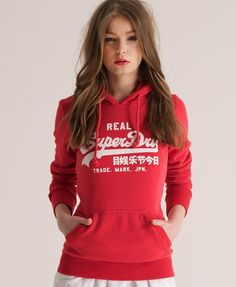 Womens - Vintage Hoodie in Soda Pop Red | Superdry