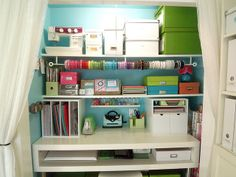 Craft closet! I could make a smaller version  of this in my armoire in my room!