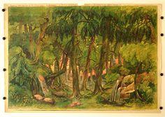 Les pozadi c. 4. Stapferovy ceské decorace pro 25 i 35 cm. loutky. (Wald Hintergrund Nr. 4. Stapfers tschech. Dekorationen für 25-35 cm Puppen.)