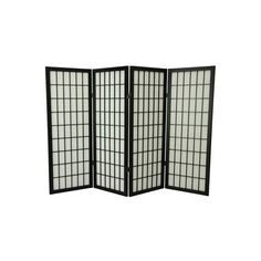 Asian Furniture Décor – 48 inch Low Window Pane Classic Japanese Shoji... ❤ liked on Polyvore featuring home, home decor, panel screens, furniture, room divider, window screens, black window screens, shoji screen, black home decor and shoji window screens