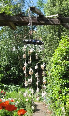 Shell Mobile / Windchime - HOME SWEET HOME - Knitting, sewing, paper crafts, jewelry, swaps, tutorials of all kinds, crochet, glass crafts and so much more on Craftster.org